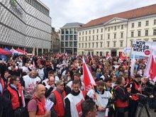 Streikkundgebung in Leipzig