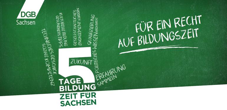 5 Tage Bildung. Zeit für Sachsen.
