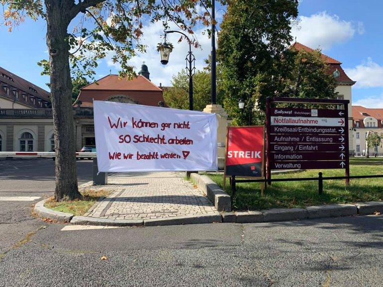 Streik am Klinikum Sankt Georg